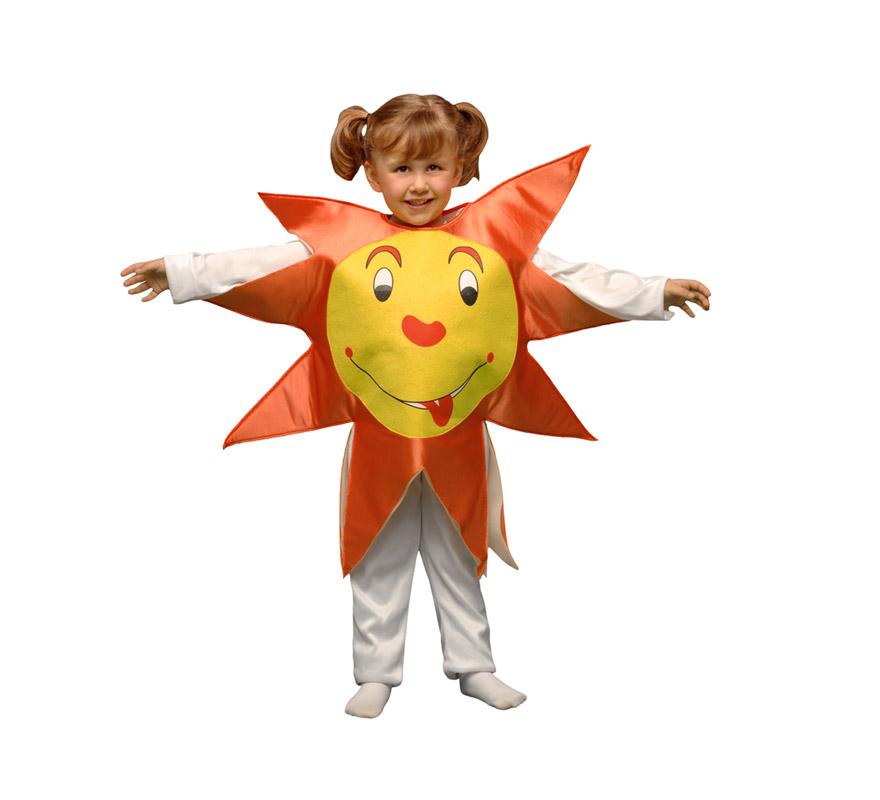 Disfraz de Sol para niños de 1 a 2 años. Incluye sólo el disfraz de goma espuma en forma de sol.