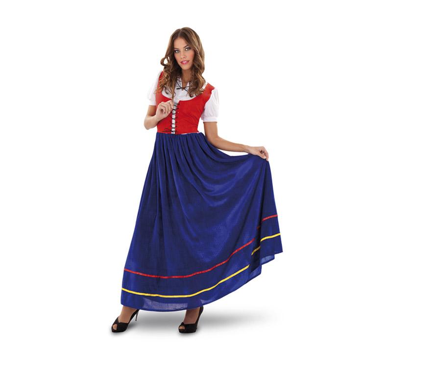 Disfraz de Veneciana para mujer. Talla standar M-L 38/42. Incluye vestido. También sirve como Sirvienta Medieval.