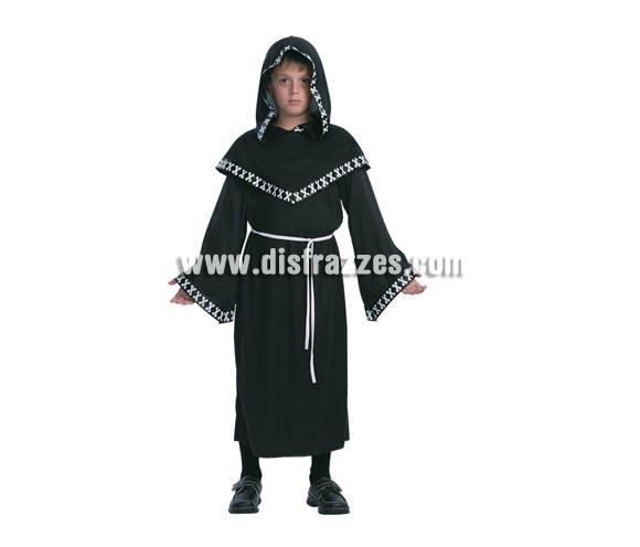 Disfraz de Segador Siniestro infantil barato para Halloween. Talla de 7 a 9 años. Incluye túnica con capucha y cinturón.