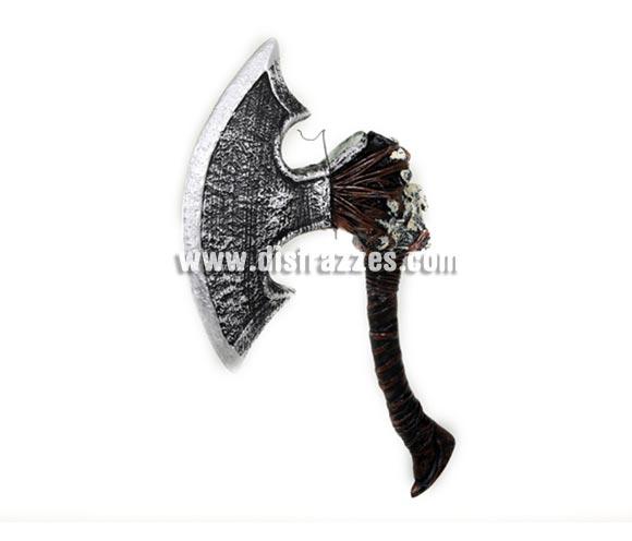 Hacha Cavernícola Asesino de 65 cm. para Halloween o para Carnaval. Ideal como complemento de los disfraces de Troglodita, Medievales y de Halloween.