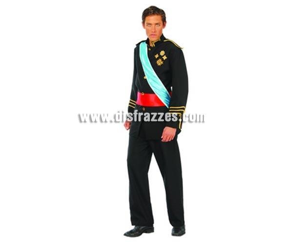 Disfraz de Gran Duque adulto. Talla única 52/54. Incluye chaqueta con detalles, banda, fajín y pantalón. Disfraz del Rey perfecto para Carnaval y Fiestas Populares.