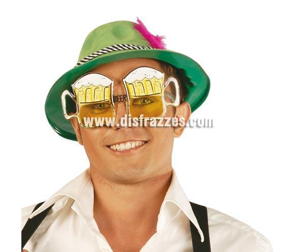 Gafas Jarras de Cerveza. Ideal como complemento de tu disfraz de Tirolés, para Carnaval para ir de Fiesta a Pubs, Discotecas, Casas particulares, Restaurantes o Colegios y ayudar a crear un ambiente Carnavalesco y Festivo propio de la Fiesta de Carnavales.