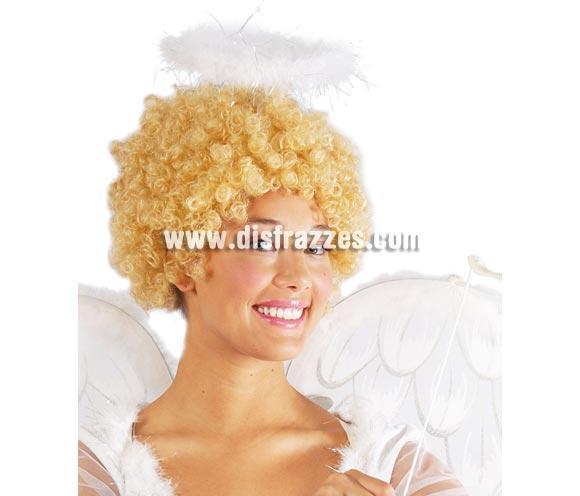 Diadema Corona marabú de Angel para Carnaval o para Navidad. El complemento ideal para tu disfraz de Angel. También la compran mucho para Despedidas de Soltera.