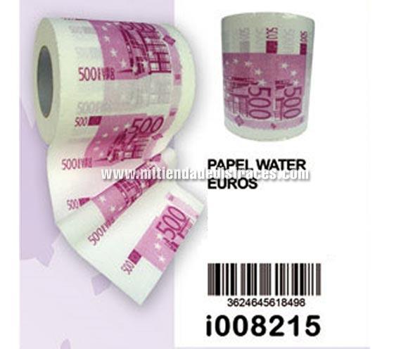 Papel higiénico billetes de 500€.