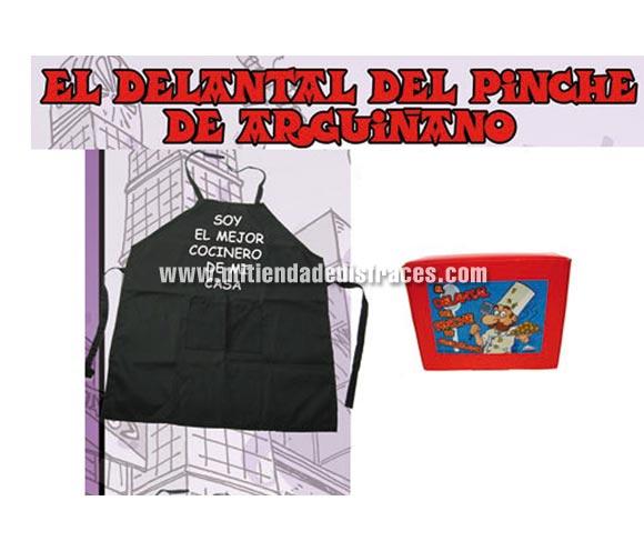 El delantal del pinche de Argiñano.  Texto: SOY EL MEJOR COCINERO DE MI CASA.