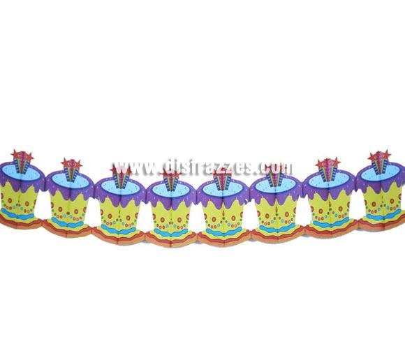 Guirnalda Fantasía de papel infantil de 19x300 cms. Ideal para decorar cualquier Fiesta infantil de Aniversario. Guirnalda para Cumpleaños.