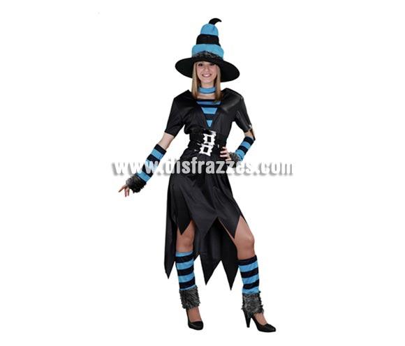Disfraz de Bruja Caprichosa adulta para Halloween barato. Talla estándar M-L = 38/42. Incluye sombrero, vestido, cinturón, manguitos, calentadores y gargantilla. Fantástica relación calidad - precio.