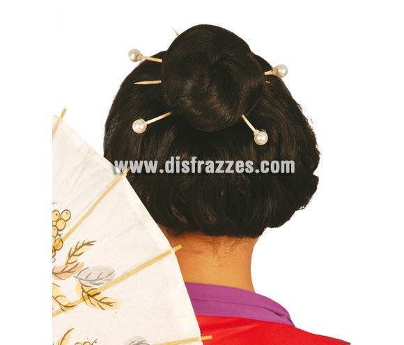 Bolsa de 4 palos chinos con perlas para el pelo. Perfecto complemento para tu disfraz de Gheisa o tu disfraz de China Oriental.