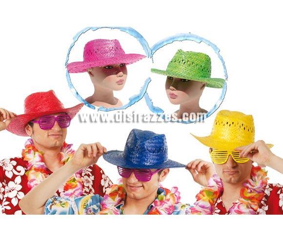 Sombrero verano de paja de varios colores. Ideal para Fiestas de verano y para ir a la Playa, Para Despedidas de Soltero y llamar un poco la atención. También es perfecto como complemento para tu disfraz de Hawaiano o de Turista.