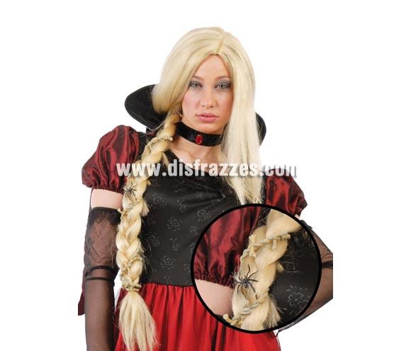 Peluca de Rapunzel con trenza rubia para Halloween. ¡¡Cómpranos los complementos de tu disfraz para Halloween, será divertido!!
