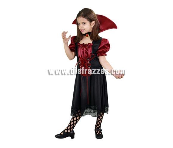 Disfraz barato de Vampiresa Misteriosa 7-9 años Halloween