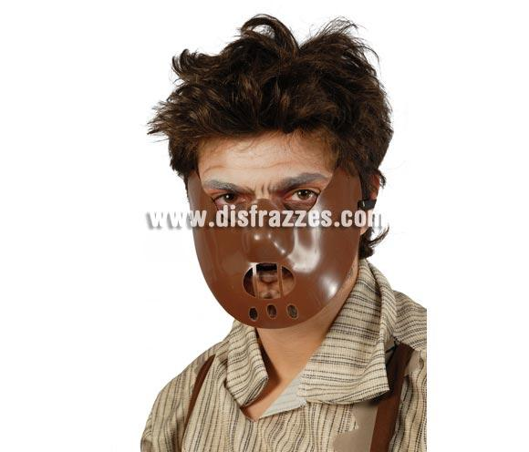 Careta o Máscara de Hannibal Lecter de la Película El Silencio de los Corderos para Halloween. Careta de plástico.