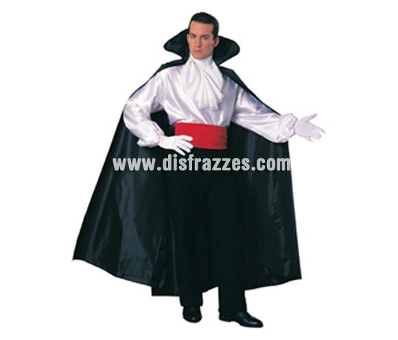 Capa larga de color negro para Halloween. Talla estándar. capa de Drácula o de Vampiro.