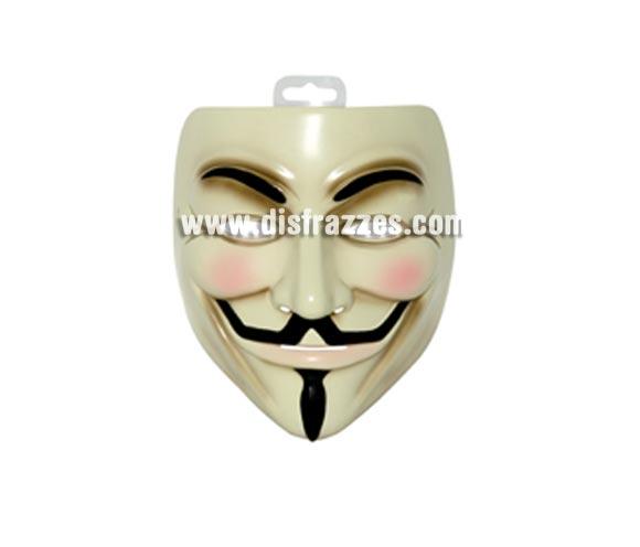 Máscara de V de Vendetta para Halloween. Máscara o Careta Vendeta de Halloween.