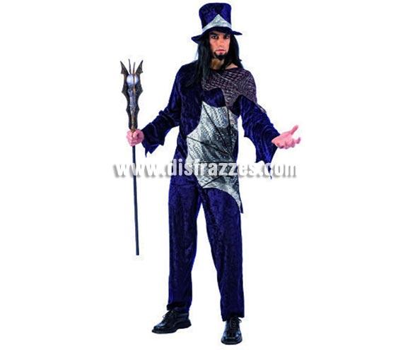 Disfraz de Vampiro Dracul adulto deluxe para Halloween. Varias tallas. Incluye camisa, pantalón y chistera. Alta calidad. Hecho en España.