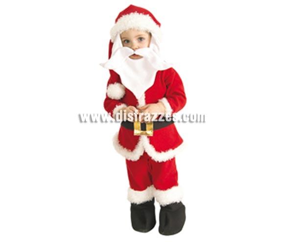 Disfraz de Papá Noel pelele bebé para Navidad. Talla de 18 meses. Incluye traje completo con cubrebotas (pelele) barba, bigote y gorro. de fácil apertura para cambio de pañal. Éste disfraz de Navidad es ideal para la época Navideña en la que los niños hacen teatros de Belenes e interpretan canciones tradicionales en los Colegios y se comienzan a preparar las Fiestas en las que Reina la Paz y la Unidad. Disfrazándote con un disfraz para Navidad, o disfrazando a tus hijos con disfraces de Navidad, ayudas a crear ese ambiente mágico en el que los peques se sienten protagonistas y sienten el auténtico Espíritu Navideño que entre todos debemos crear. ¡¡Compra tu disfraz para Navidad en nuestra tienda de disfraces, será divertido!!
