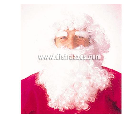 Peluca y Barba de Papa Noel adulto para Navidad. El complemento ideal para tu disfraz de Papa Noel, aunque también serviría como Barba de Rey Mago Melchor. ¡¡Compra los complementos de tus disfraces en nuestra tienda de disfraces, será divertido!!
