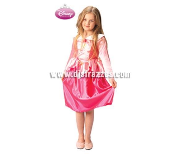 Disfraz Disney de La Bella Durmiente CLASSIC infantil para Carnaval. Talla de 5 a 6 años. Incluye vestido. Traje de la Bella Durmiente con licencia Disney perfecto como regalo.