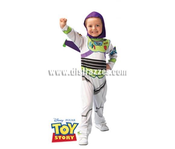 Disfraz de Buzz Lightyear Classic infantil para Carnaval. Talla de 5 a 7 años. Incluye jumpsuit (mono) estampado, alas y gorro. Traje con licencia TOY STORY perfecto como regalo.
