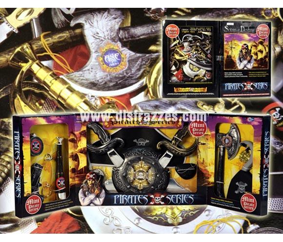 Tríptico serie Piratas con accesorios de 32x46 cm. para Carnaval.