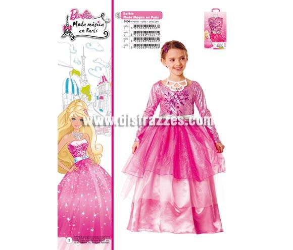 Disfraz de Barbie Moda Mágica en Paris infantil para Carnaval. Varias tallas. Incluye vestido, collar y pinza para el pelo. Traje con licencia Barbie presentado en caja regalo perfecto para Carnaval y como regalo en Navidad, en Reyes Magos, para un Cumpleaños o en cualquier ocasión del año. Con éste disfraz harás un regalo diferente y que seguro que a los peques les encantará y hará que desarrollen su imaginación y que jueguen haciendo valer su fantasía.