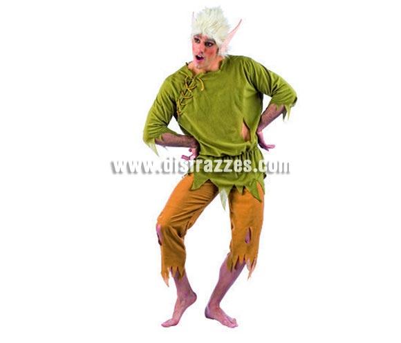Disfraz de Elfo Lilvast adulto deluxe para Carnaval. Incluye camisa, pantalón, orejas y peluca. Alta calidad. Hecho en España. Disponible en varias tallas. Traje de Duende para Navidad.
