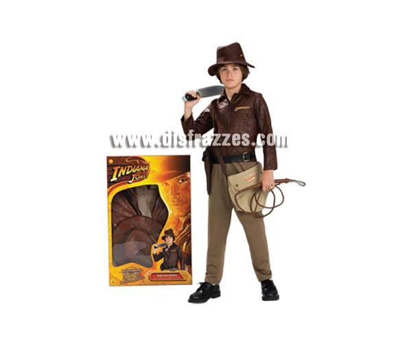Disfraz de Indiana Jones lujo en caja. Talla de 3 a 4 años. Incluye cazadora, camisa, pantalones y sombrero. Un disfraz con licencia ideal para regalar en cualquier fecha del año.