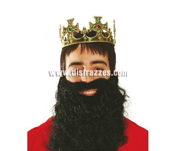 Corona de Rey de color oro para Carnaval y para Navidad.
