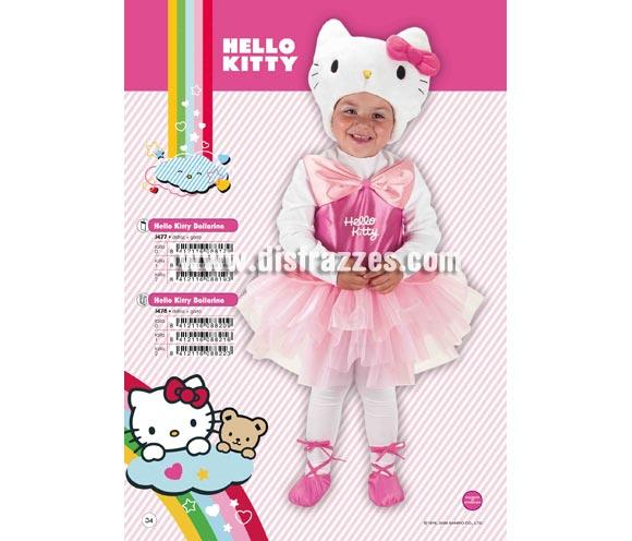 Disfraz de Hello Kitty Bailarina infantil para Carnaval y regalo. Varias tallas. Incluye disfraz y gorro. Presentación en percha y bolsa. Disfraz con licencia perfecto como regalo. Éste traje es perfecto para Carnaval y como regalo en Navidad, en Reyes Magos, para un Cumpleaños o en cualquier ocasión del año. Con éste disfraz harás un regalo diferente y que seguro que a los peques les encantará y hará que desarrollen su imaginación y que jueguen haciendo valer su fantasía.  ¡¡Compra tu disfraz para Carnaval o para regalar en Navidad o en Reyes Magos en nuestra tienda de disfraces, será divertido y quedarás muy bien!!
