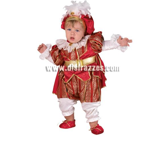 Disfraz de Rey Bebé para Carnaval. Disponible en dos tallas. Incluye disfraz.