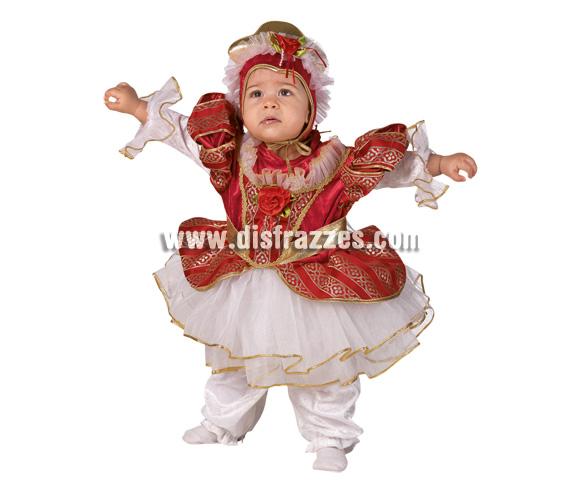 Disfraz de Reina Bebé para Carnaval. Disponible en dos tallas. Incluye disfraz.