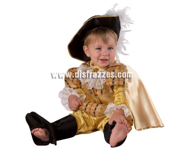Disfraz de Mosquetero Baby para Carnaval. Disponible en 2 tallas. Incluye disfraz.
