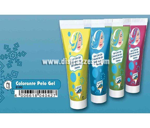 Tubo 40 ml. de gel colorante pelo para Carnaval o Halloween. Colores variados. Estos maquillajes son de calidad profesional, de larga duracin y fcil uso. Dermatolgicamente testado. Las fotos del embalaje pueden servir de modelo para maquillarse. Pueden tambin hacer uso de la imaginacin para crear sus propios maquillajes.