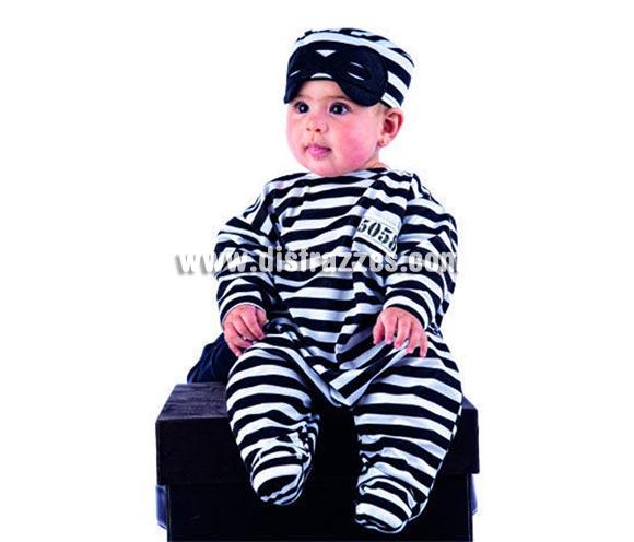 Disfraz - Nana Preso bebé deluxe para Carnaval. Talla de 6 meses. Incluye gorro y mono. Alta calidad. Hecho en España.