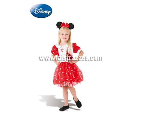 Disfraz barato de Minnie Mouse roja deluxe 3-4 años niña
