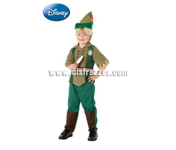 Disfraz de Peter Pan Deluxe infantil para Carnaval y para regalo. Talla de 3 a 4 años. Incluye pantalón, camiseta, cinturón, gorro y cuchillo de EVA. Disfraz con licencia perfecto para regalar. Éste traje es perfecto para Carnaval y como regalo en Navidad, en Reyes Magos, para un Cumpleaños o en cualquier ocasión del año. Con éste disfraz harás un regalo diferente y que seguro que a los peques les encantará y hará que desarrollen su imaginación y que jueguen haciendo valer su fantasía.  ¡¡Compra tu disfraz para Carnaval o para regalar en Navidad o en Reyes Magos en nuestra tienda de disfraces, será divertido y quedarás muy bien!!