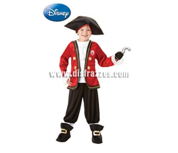 Disfraz del Capitán Garfio Deluxe infantil para Carnaval y para regalo. Talla de 3 a 4 años. Incluye pantalón con cubrebotas, camisa con chaqueta, sombrero y garfio de EVA. Disfraz con licencia perfecto para regalar. Éste traje es perfecto para Carnaval y como regalo en Navidad, en Reyes Magos, para un Cumpleaños o en cualquier ocasión del año. Con éste disfraz harás un regalo diferente y que seguro que a los peques les encantará y hará que desarrollen su imaginación y que jueguen haciendo valer su fantasía.  ¡¡Compra tu disfraz para Carnaval o para regalar en Navidad o en Reyes Magos en nuestra tienda de disfraces, será divertido y quedarás muy bien!!