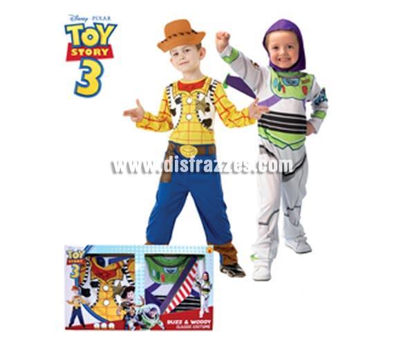 Disfraz de Buzz + Woody CLASSIC infantil en caja para Carnaval y para regalar en Reyes. Talla de 5 a 7 años. Incluye BUZZ: Jumpsuit (mono) estampado y gorro; WOODY: Jumpsuit (mono) estampado y 1/2 sombrero de EVA. Presentación en caja regalo. Disfraz con licencia perfecto para regalar. Éste traje es perfecto para Carnaval y como regalo en Navidad, en Reyes Magos, para un Cumpleaños o en cualquier ocasión del año. Con éste disfraz harás un regalo diferente y que seguro que a los peques les encantará y hará que desarrollen su imaginación y que jueguen haciendo valer su fantasía.  ¡¡Compra tu disfraz para Carnaval o para regalar en Navidad o en Reyes Magos en nuestra tienda de disfraces, será divertido y quedarás muy bien!!