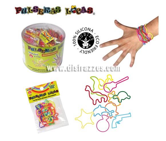 Pulseras locas con formas surtidas para niños (Bolsa de 12 uds.)