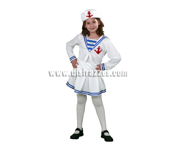 Disfraz de Marinera infantil barato para Carnaval. Talla de 10 a 12 años. Incluye camisa, falda y gorro. Éste traje de Marinera para Carnaval es ideal para divertirse en las Fiestas de Carnavales.