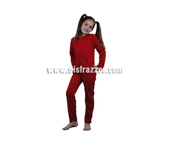 Mono completo barato de punto rojo para Carnaval o Halloween. Talla de 10 a 12 años. Incluye mono completo. Ideal para ponerse debajo de cualquier disfraz para no pasar frío. ¡¡Compra los complementos para tu disfraz en nuestra tienda de disfraces, será divertido!!