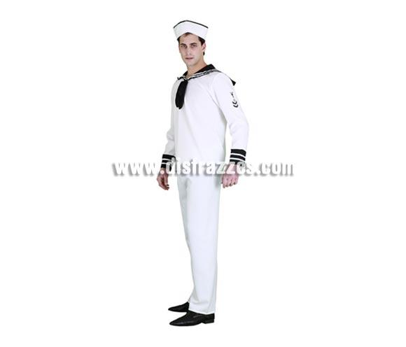 Disfraz de Marinero adulto para Carnaval. Talla Standar M-L 52/54. Incluye gorra, camisa y pantalón.