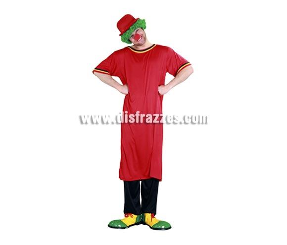 Disfraz de Payaso de la tele rojo adulto barato para Carnaval. Talla Standar M-L 52/54. Incluye camiseta larga roja. Accesorios NO incluidos, podrás verlos en la sección Complementos. Aconsejamos los zapatones de la ref. 11006BT que son los más auténticos. ¿Te acuerdas de los Payasos de la tele Gabi, Miliki, Fofo, Fofito y Milikito? ¡Qué maravillosos años! ¡¡Compra tu disfraz para Carnaval en nuestra tienda de disfraces, será divertido!!