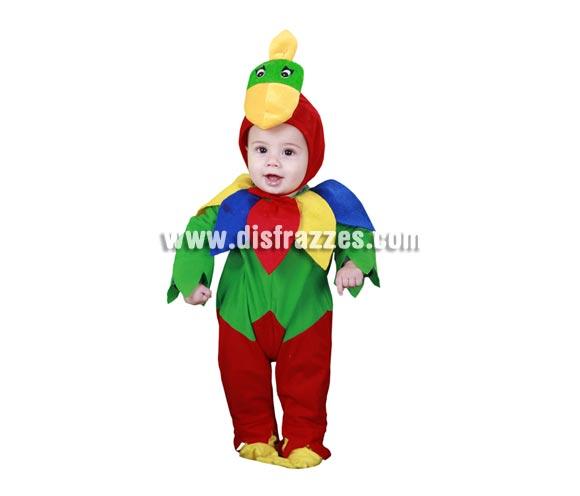 Disfraz barato de Bebé Loro o Lorillo para Carnaval. Talla de 6 a 12 meses. Incluye mono y gorro.