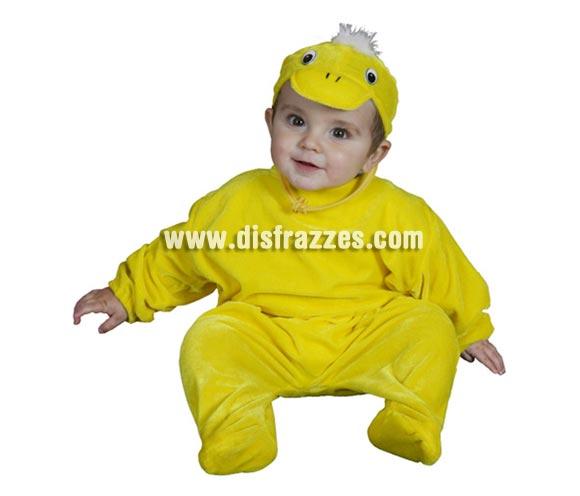 Disfraz barato de bebé Pato para Carnaval. Talla de 6 a 12 meses. Incluye mono y gorro.