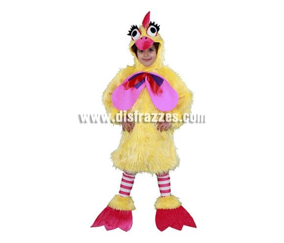 Disfraz de Gallina infantil para Carnaval. Talla de 5 a 6 años. Incluye gorro, mono, calentadores y cubrepies.  ¡¡Compra tu disfraz para Carnaval en nuestra tienda de disfraces, será divertido!!