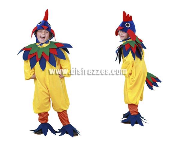 Disfraz de Gallo amarillo infantil para Carnaval. Talla de 5 a 6 años. Incluye gorro, cuello, vestido, mallas y cubrezapatos.  ¡¡Compra tu disfraz para Carnaval en nuestra tienda de disfraces, será divertido!!