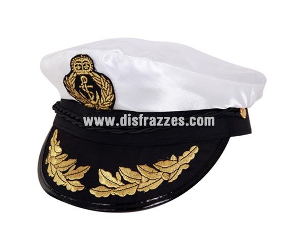 Gorra de Comandante de la Marina o Capitán de Barco para Carnaval. Talla universal adultos. También nos la han comprado para Despedidas de Soltero.