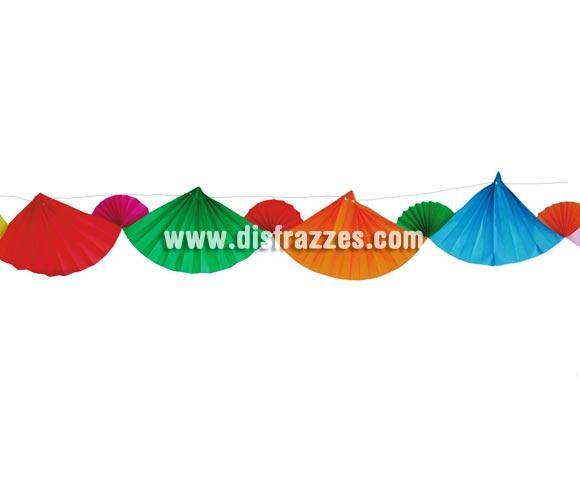 Guirnalda Abanicos de colores para decorar Fiestas de 20 x 400 cm. Ideal para Fiestas Flamencas. ¡¡Compra los artículos para tus Fiestas en nuestra tienda de disfraces, lo pasarás bien y será divertido!!