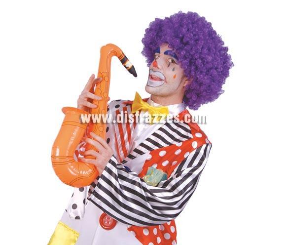 Saxofón hinchable de 60 cm. para Carnaval.